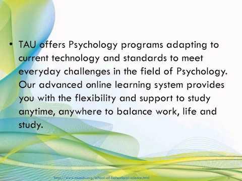 Study psychology programs online at TAU