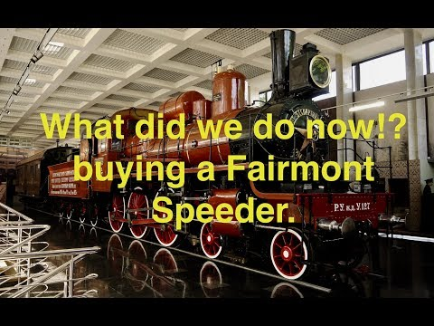We bought a train! bringing home a Farimont Speeder Inspection Train.