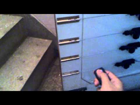 Home door with remote locking