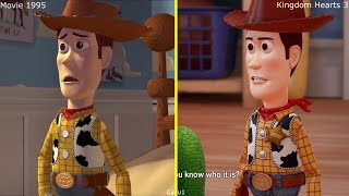 Kingdom Hearts III - Toy Story Game 2017 vs 1995 Movie Comparison