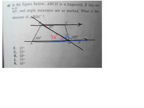 Find an angle on ABCD trapezoid