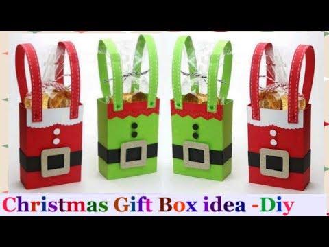 how to make a Christmas gift box /Christmas gift box tutorial | Christmas decorations at home-diy