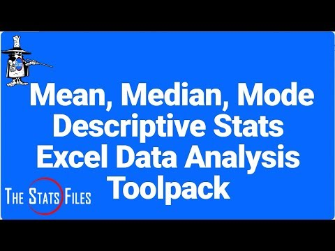 How to find the Mean, Median, Mode and Descriptive Statistics using Excel Data Analysis Tool Pack