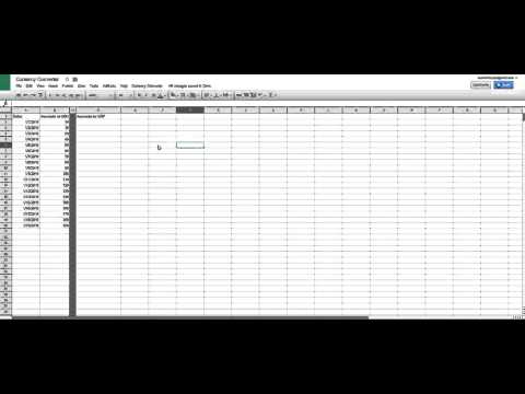 Currency Converter for Google Sheet.