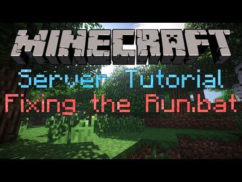 Minecraft Server Tutorial Different start up codes (Run.bat Codes)