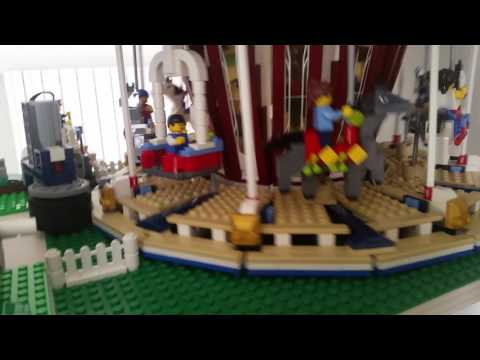 Lego 10196 10244 10247 Grand Carousel, Fairground Mixer & Ferris Wheel