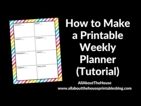How to make a simple weekly planner in photoshop (step by step tutorial)