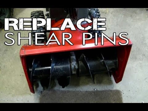 HOW-TO Replace Shear Pins On Older Toro Snowblower