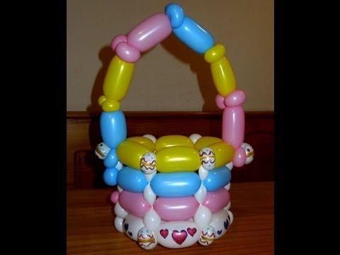 Easter Basket Balloon Tutorial | Basket Weaving | Chicago Balloon Artists