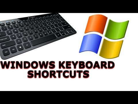 Windows Keyboard Shortcuts 3 - Windows 8, 7, Vista and XP