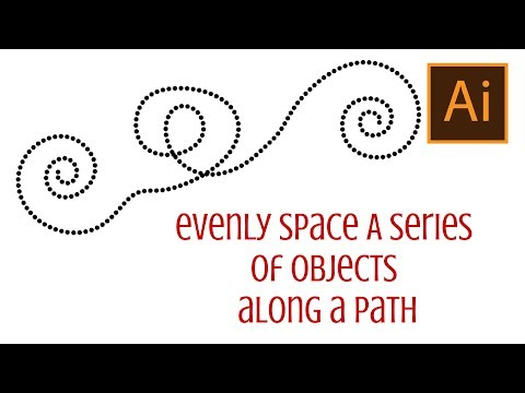 Illustrator - Evenly space a series of objects along a path