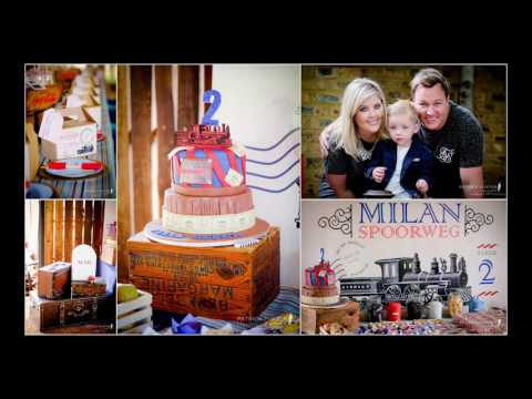 Vintage train 2nd birthday party