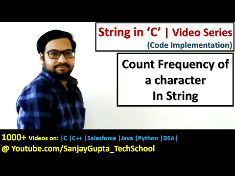 Count frequency of a character in a string in c programming language | by Sanjay Gupta