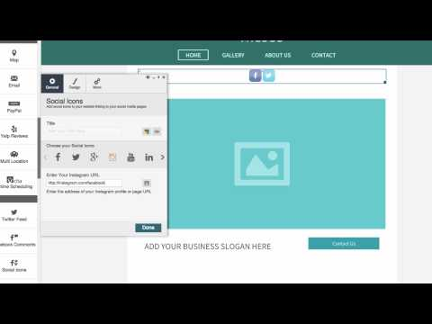 Adding social icons to your website