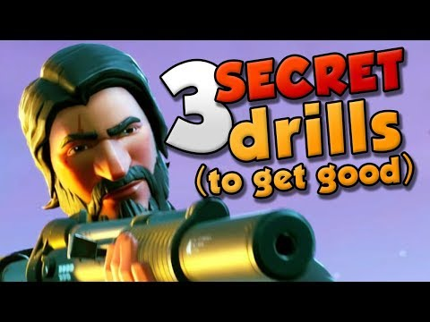 Top 3 Secrets you need to Get Good! - Fortnite Battle Royale training drills