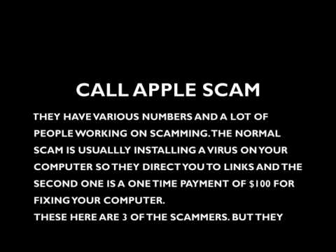 CALL APPLE SCAM , this is the voice of some scammers recorded