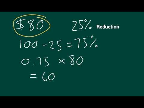 Price with percentage reduction