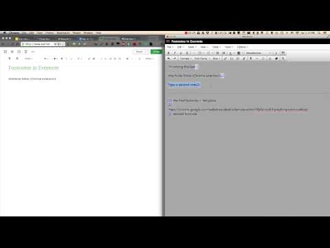 Footnotes in Evernote