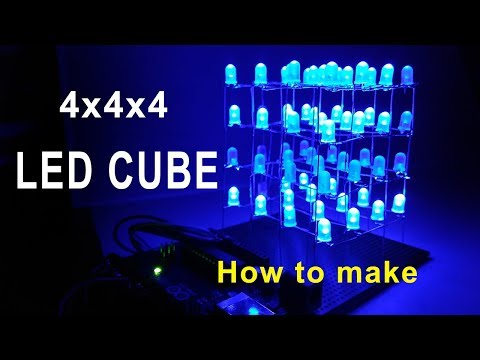 4x4x4 LED Cube using arduino Uno | How to make