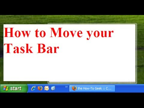 how to move your task bar on windows XP