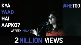 Kya Yaad Hai Aapko? #MeToo - Afreen Khan | Kahaaniya - A Storytelling Open Mic By Tape A Tale