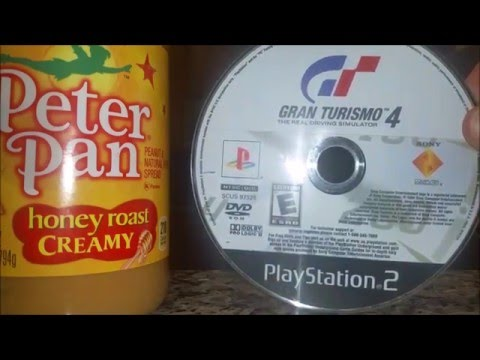 How to fix a Playstation 2 game with peanut butter