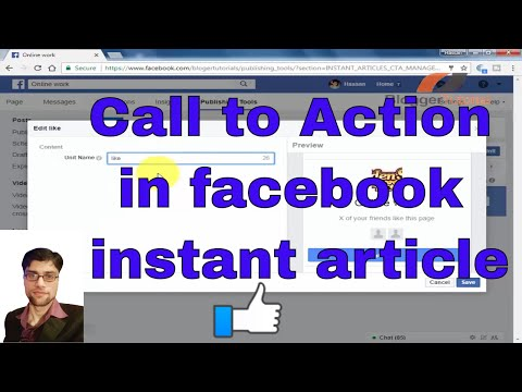 Use of Call to Action in Facebook Instant Articles
