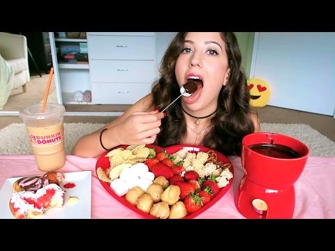 Dunkin Donuts and Chocolate Fondue MUKBANG! (Eating Show)