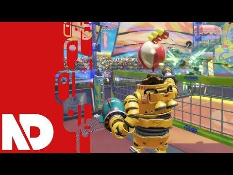 [ARMS Testpunch] Mechanica V-Ball Gameplay