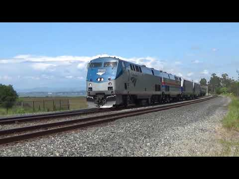 Amtrak Train 939 with Siemens Chargers 30apr18