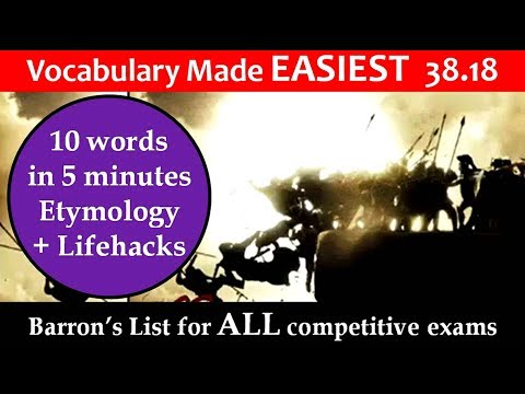 vocabulary made EASIEST 38.18 learn etymology by puneet biseria in hindi