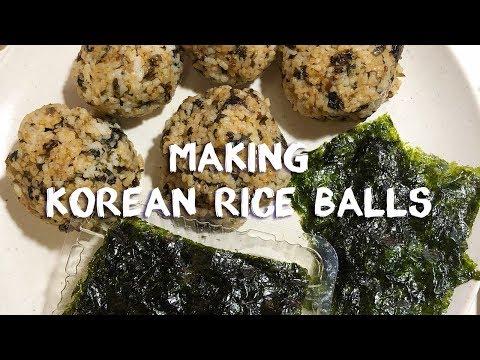 주먹밥 만들기 | Making Korean Rice Balls (Jumokbap)