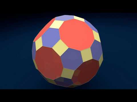 Make 3D Solid Shapes - Great Rhombicosidodecahedron / Ромбоусечённый икосододекаэдр