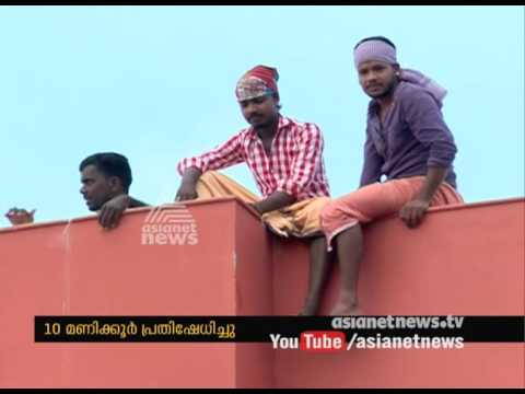 Suicide threat at Women hostel building of Central University Kasargod