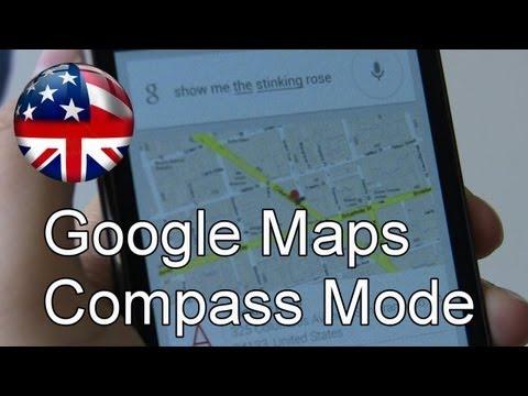 Google Maps Compass Mode Walk Through Using Google Now on Jelly Bean
