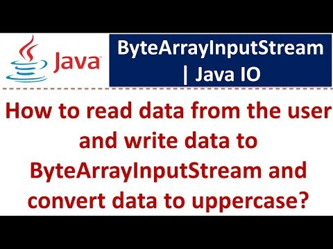 Java Tutorial : Java IO (ByteArrayInputStream Capitalize)