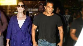 Salman Khan - Katrina Kaif Arrive From Abu Dhabi At Mumbai Airport