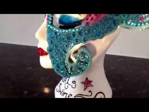 Mask Headdress Turquoise Ganesh Hindu Elephant