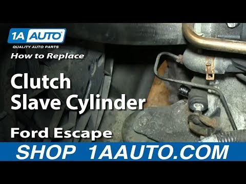 How To Install Replace Clutch Slave Cylinder 2002-05 Ford Escape