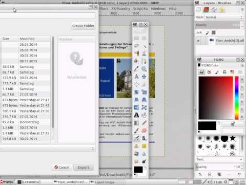 Anleitung: PDF zu PNG umwandeln mit Gimp