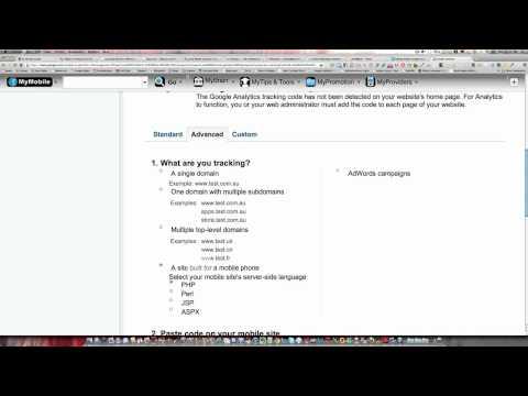 Google Analytics code set up