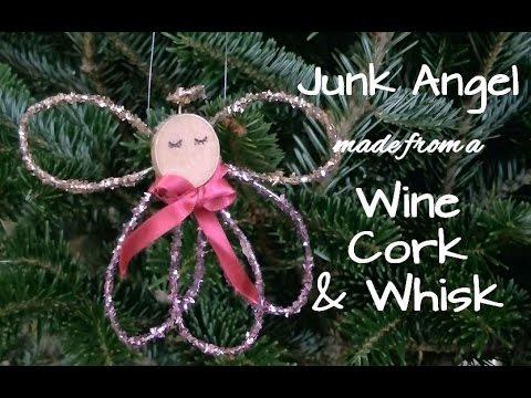 DIY Junk Angel Christmas Ornament