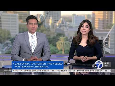 California to shorten time needed for teacher credential