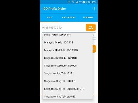 IDD/ISD Prefix Dialer demo