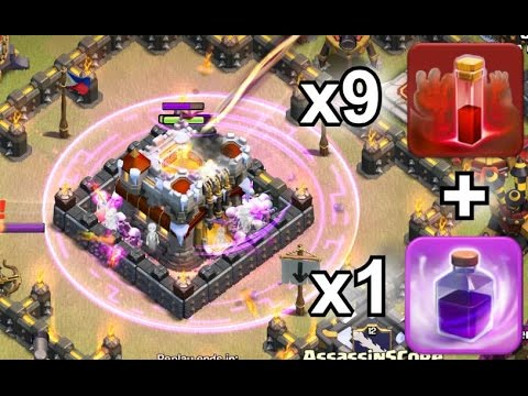 9 Skeleton Spells to Destroy Town Hall - Clash of Clans