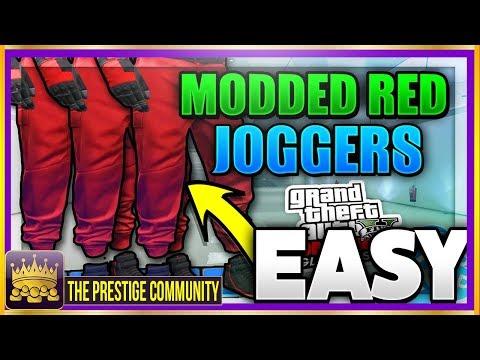 NEW GTA 5 RED JOGGERS GLITCH 1.41! *SAVE* GTA 5 RARE Clothing Glitch 1.41 Colored Joggers Ps4/Xb1/PC