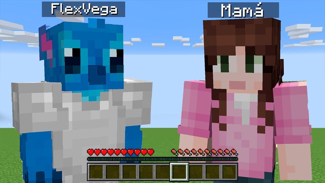 Minecraft con mi Mamá (Gracioso)