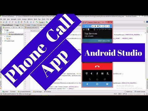 Android App Development | How to make a phone call app in Android Studio