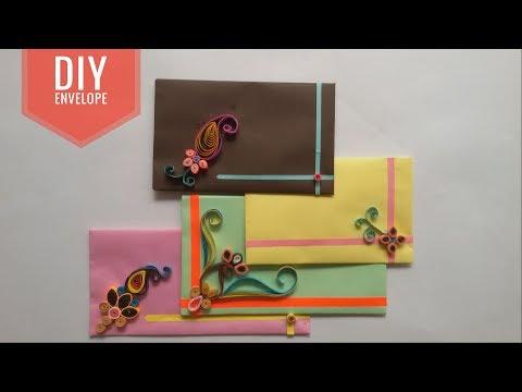 Home made Envelope For Diwali Greetings | DIY Paper Envelope | Art & Creativity ❤