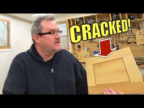 Cracked cabinet door frame repair